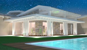 Villa Prefabbricata in Legno: Casa prefabbricata  in stile  di Avantgarde Construct Luxury Srl
