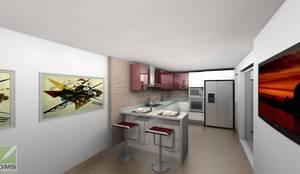 Cocinas de estilo moderno por Erick Becerra Arquitecto
