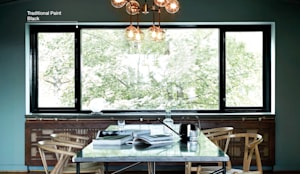 Classico krijtverf in de kleur Blue Reef, Traditional Paint in de kleur Black:  Eetkamer door Pure & Original