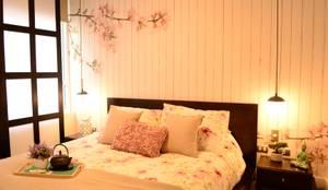 Estilo Japones en Santiago : Dormitorios de estilo ecléctico por Kaa Interior