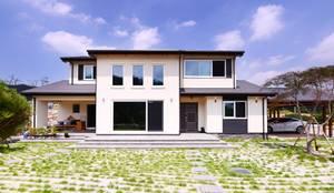 50평형 영월 방절리: 코원하우스의  주택