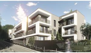 Projecto para edifício de habitação colectiva Vaillant: Casas  por OGGOstudioarchitects, unipessoal lda