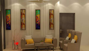 Vibrant colour schemes for living room : modern Living room by MAG Consultancy
