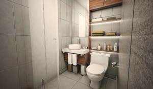 Baño y lavado: Baños de estilo  por  Grupo Arquitectónico