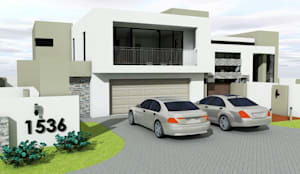 Double garage: modern Houses by MNM MULTI PROJECTS