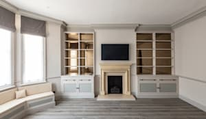 Three Storey Maisonette - Chelsea: classic Living room by Prestige Architects By Marco Braghiroli