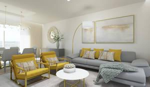 DECORAÇÃO ELEGANTE SALA DE ESTAR: Salas de estar modernas por Glim - Design de Interiores