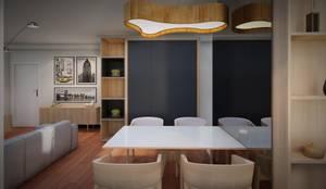 Vista Sala de Jantar: Salas de jantar  por Studio MP Interiores ,Moderno MDF