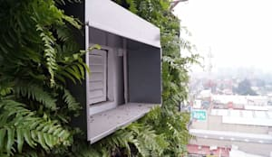 Muro Verde en San Angel: Centros Comerciales de estilo  por Designo Arquitectos