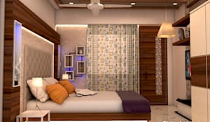 Son_ s bed room interior design for mr. Ramavtar Khunteta jalmahal site joraver Singh gate govind nagar east Jaipur: modern Bedroom by divine architects