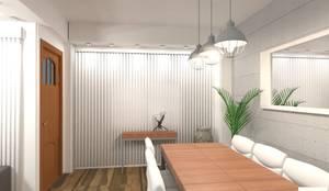 Proyecto Leandro - Comedor: Bodegas de estilo industrial por Arquimundo 3g.