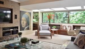 Ambientes integrados: Salas de estar  por BG arquitetura | Projetos Comerciais,Moderno