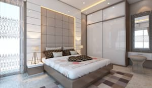 Moden Bedroom Designs: modern Bedroom by Golden Spiral Productionz (p) ltd