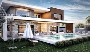 ANTE MİMARLIK  – 1. kat planı:  tarz Evler