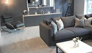Casa Cinza super moderna: Salas de estar  por AL Interiores