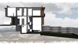 Residencia GT_07: Casas unifamiliares de estilo  por 3C Arquitectos S.A. de C.V.