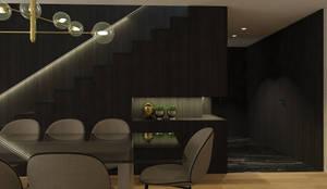 SS Duplex Apartment: Salas de jantar  por 411 - Design e Arquitectura de Interiores