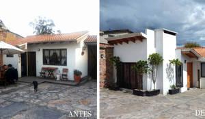 ANTES Y DESPUES: Casas campestres de estilo  por noc-noc