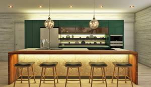 Casa de Campo : Cocinas de estilo  por Luis Escobar Interiorismo