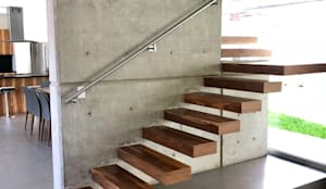 Lomas Altas: Escaleras de estilo  por RFoncerrada arquitectos, Minimalista Concreto