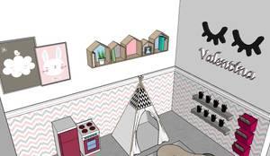 Quantinho da Valentina: Quartos das meninas  por G.F Studio Design
