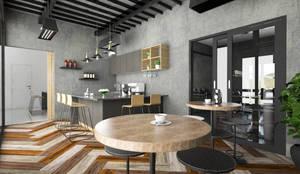Cafe:  Ruang Penyimpanan Wine by PT. Leeyaqat Karya Pratama