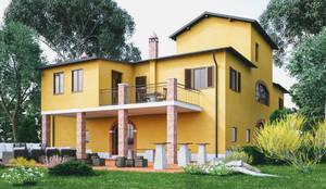 ARCHITETTURA - Render fotorealistici d'esterni: Casa di campagna in stile  di Insighters Computer Graphics
