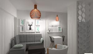 Diseño de Interior de Monoambiente por 3G Arquimundo: Livings de estilo  por Arquimundo 3g - Diseño de Interiores - Ciudad de Buenos Aires