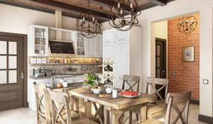 Country Loft: Кухни в . Автор – Zibellino.Design