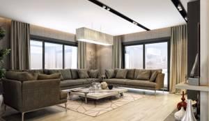 ANTE MİMARLIK  – Oturma odası aydınlatma:  tarz Oturma Odası