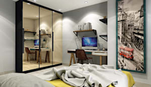 ANTE MİMARLIK  – Orkun E. Syphony Villa:  tarz Genç odası