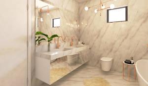 حمام تنفيذ Ana Andrade - Design de Interiores