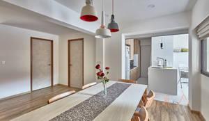 255 Bishan:  Dining room by VOILÀ Pte Ltd,Scandinavian