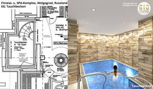 Tauchbecken:  Hotels von GID│GOLDMANN-INTERIOR-DESIGN - Innenarchitekt in Sehnde