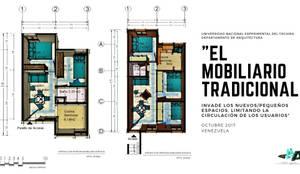 Mobiliario modular y multifuncional para viviendas inferiores a los 50mts2 : Casas unifamiliares de estilo  por Cindy Castañeda