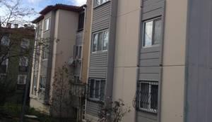 Halif yapı – Gündoğdu Konutları Dış Cephe Isı ve Su Yalıtımı :  tarz Apartman