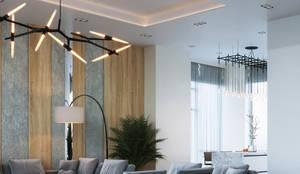 КП «Футуро Парк» 150М2, Эстетика: Гостиная в . Автор – Loft&Home