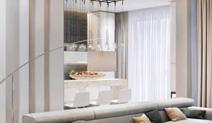 ЖК «Флотилия», 78 кв.м., Современный шик: Гостиная в . Автор – Loft&Home