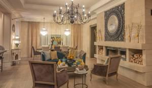 3BHK home in Mumbai :  Living room by Rebel Designs