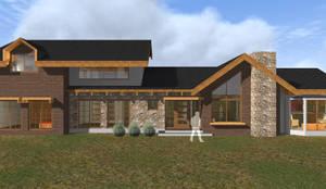 VIVIENDA RURAL - PARCELAS SANTA JULIA MELIPILLA: Casas unifamiliares de estilo  por Vicente Espinoza M. - Arquitecto