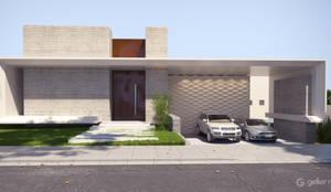 Projeto fachada da casa moderna : Condomínios  por Gelker Ribeiro Arquitetura
