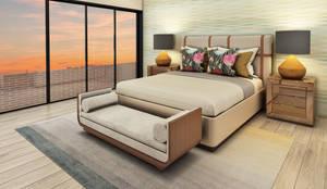 Casa de Campo : Dormitorios de estilo  por Luis Escobar Interiorismo,