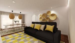 Sala de estar e jantar: Salas de estar  por MIA arquitetos