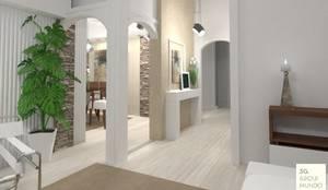 Diseño de Hall de acceso : Pasillos y recibidores de estilo  por Arquimundo 3g - Diseño de Interiores - Ciudad de Buenos Aires