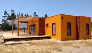 Casa pasiva en Catapilco en Super Aislación en poliestireno de alta densidad (20-30 kg/m3): Casas de estilo  por Casas Green Planet