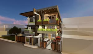 Proposed 3-Storey Residence, Taguig:  Townhouse by Structura Architects