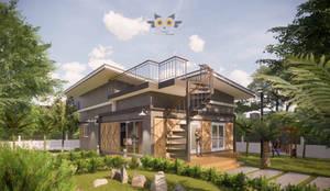 Nhà cho nhiều gia đình by แบบบ้านออกแบบบ้านเชียงใหม่