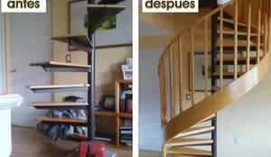 Antes y Despues: Escaleras de estilo  por VIVE arquitectura