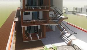EDIFICIO DE DEPARTAMENTOS RESIDENCIAL DE LUJO: Casas de estilo  por Grupo Viesa