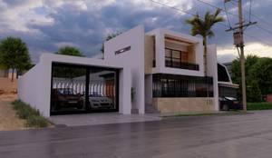 Fachada dia: Casas unifamiliares de estilo  por Zayas Group